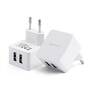 Carregador Universal Geonav Essential com Duas portas USB Branco