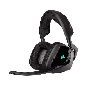 Headset Gamer Corsair Void RGB Elite Wireless Carbono sem fio - PC e PS4