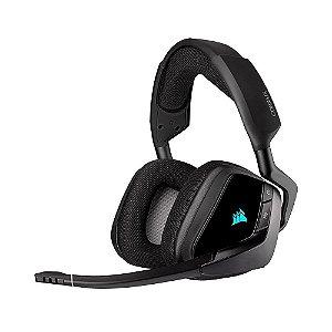 Headset Gamer Corsair Void RGB Elite Wireless Carbono sem fio - PC e PS4