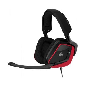 Headset Gamer Corsair Void Elite RGB Cherry 7.1 com fio - Multiplataforma