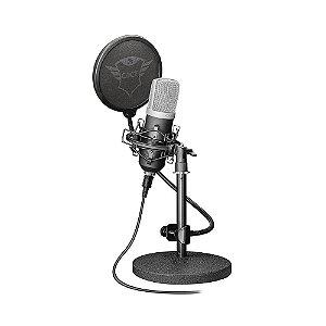 Microfone Condensador Studio USB Trust Emita T21753 - PC