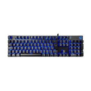 Teclado Mecânico Gamer HP GK400F LED Azul PT com fio