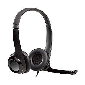 Headset Logitech H390 Preto com fio - PC