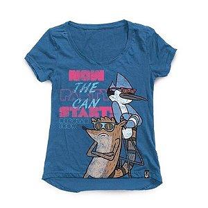 Camiseta Feminina Studio Geek Party Regular Show - Modelo 3