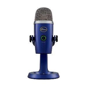 Microfone Condensador USB Blue Yeti Nano Azul - PC