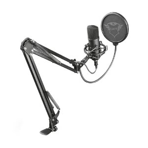 Microfone Condensador Studio USB Trust Emita Plus GTX 252+ T22400 - PC