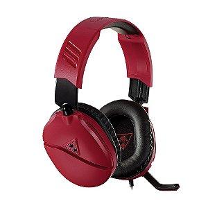 Headset Gamer Turtle Beach Recon 70 Vermelho com fio - Multiplataforma