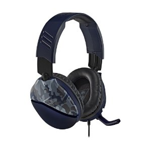 Headset Gamer Turtle Beach Recon 70 Azul Camuflado com fio - Multiplataforma