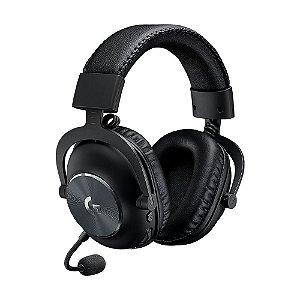 Headset Gamer Logitech PRO X 7.1 Preto sem fio - PC