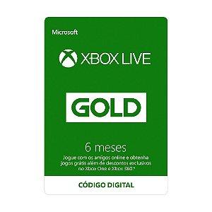Cartão Xbox Live Gold 6 meses - Microsoft