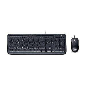 Kit Mouse e Teclado Microsoft Wired 600 Desktop PT com fio