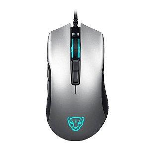 Mouse Gamer Motospeed V70 Essential Cinza 6400 DPI RGB com fio