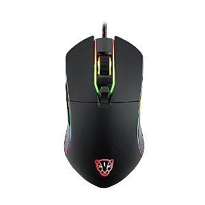 Mouse Gamer Motospeed V30 Preto 3500 DPI RGB com fio