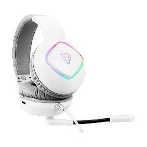 Headset Gamer Motospeed G750 7.1 RGB Branco com fio - PC e PS4