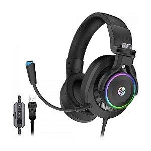 Headset Gamer HP H500GS 7.1 LED RGB com fio - PC