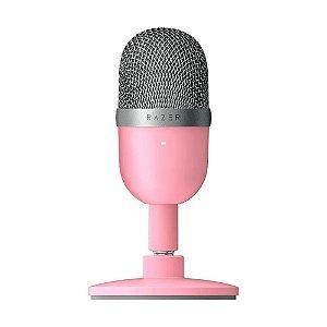 Microfone Condensador Streaming Razer Seiren Mini Rosa USB - PC