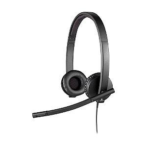 Headset Logitech H570e Preto com fio - PC