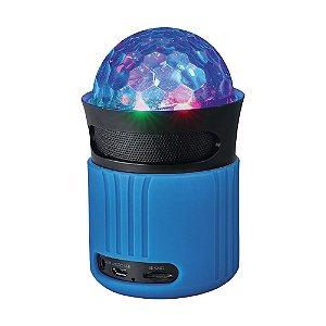 Caixa de Som Trust Dixxo Go Azul LED 6W Bluetooth