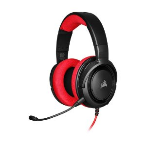 Headset Gamer Corsair HS35 Stereo Vermelho com fio - Multiplataforma