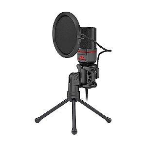 Microfone Condensador Redragon Streamer Seyfert GM100 - PC e Mobile