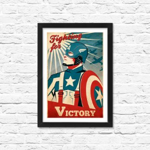 Pôster Emoldurado ShopB Capitão América