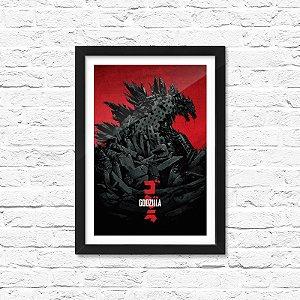 Pôster Emoldurado ShopB Godzilla