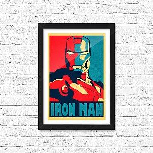 Pôster Emoldurado ShopB Homem de Ferro - Modelo 1