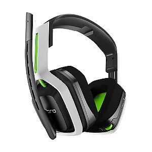 Headset Gamer Astro A20 Branco e Verde Wireless - Multiplataforma