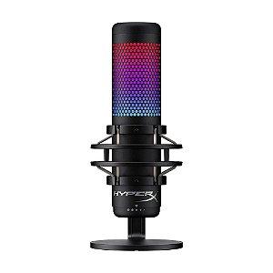 Microfone Condensador USB HyperX Quadcast S HMIQ1S-XX-RG/G Preto RGB - PC e PS4