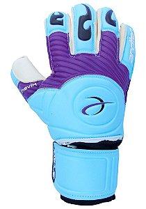 Luvas de Goleiro Arcitor Havik Rollfinger Finger Protection (Azul Roxo Preto) Extended AW Elite