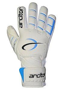 Luvas de Goleiro Arcitor Tagus Negative (Branco Azul) D-SOFT