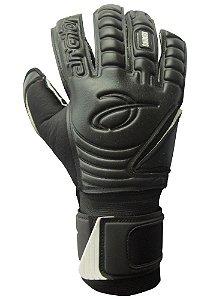Luvas de Goleiro Arcitor Komino Finger Protection Hybrid Roll/Flat (Preto) Neoprene Extended MW PRO