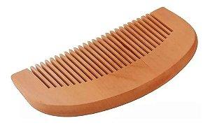 Pente de bolso Curvo para Barba em Madeira de pessego - Importado