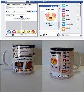 Caneca Personalizada Dia dos Namorados Facebook