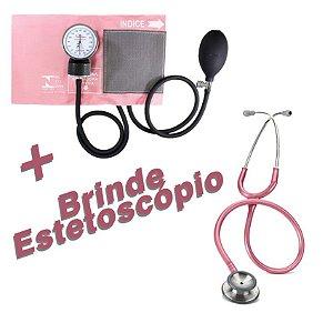 Aparelho Esfigmomanômetro + Brinde Estetoscópio DUAL SONIC