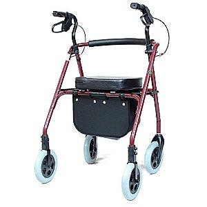 Andador 4 Rodas com Assento Almofadado SL512