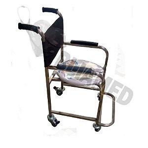 Cadeira de Banho Aço Inox Modelo Bliamed