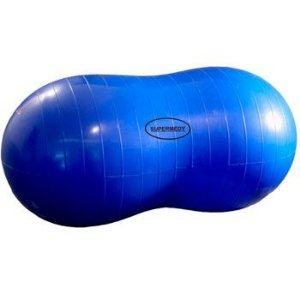 Bola Feijão Peanut 90x45 Cm C/ Bomba - Pilates Supermedy