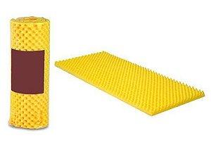 Colchão Caixa De Ovo Paropas Solteiro - Amarelo D23