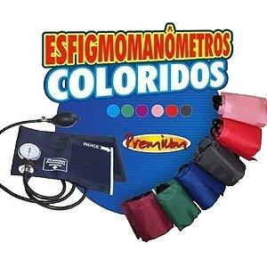 Esfigmomanômetro Aneróide com Braçadeira Colorida