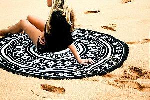 Toalha Redonda Rainha da Praia - 100% Algodão