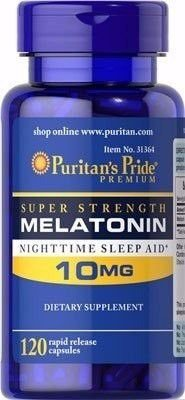 Melatonina Puritan's Pride 10mg  - 60 cápsulas