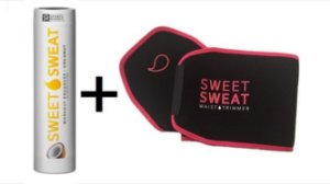 Kit Sweet Sweat Coconut 182g + Cinta Neoprene Original PINK