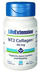 NT2 Colageno 40mg Life Extension - 60 cápsulas