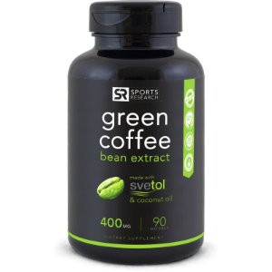 Green Coffee 400mg  Sports Research - 90 softgels
