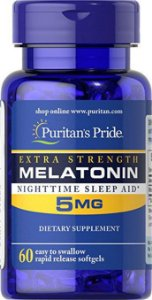Melatonina Puritan's Pride 5mg - 60 sofgels