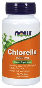 Chlorella 1000mg NOW - 60 tablets