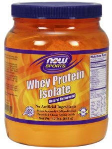 Whey Protein Isolate NOW - Unflavored - 1.2 lbs (544g)