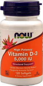 Vitamina D3 5.000 IU - NOW - 120 Softgels
