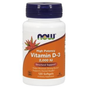 Vitamina D3 2.000 IU - NOW - 120 Softgels